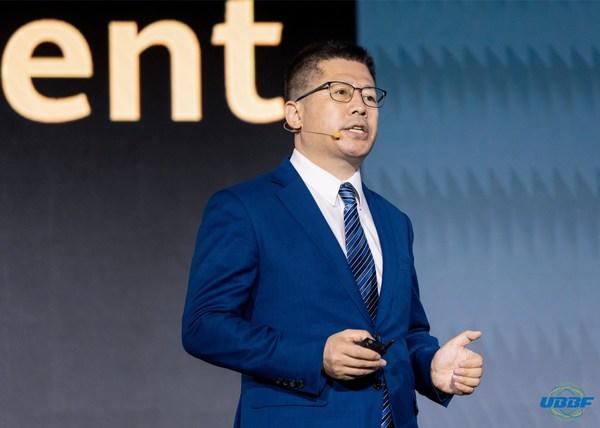 華為光產品線副總裁王麗彪發表主題演講