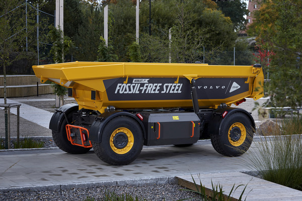 SSAB의 화석연료 제로 사용 강재 Volvo Group 차량에 적용