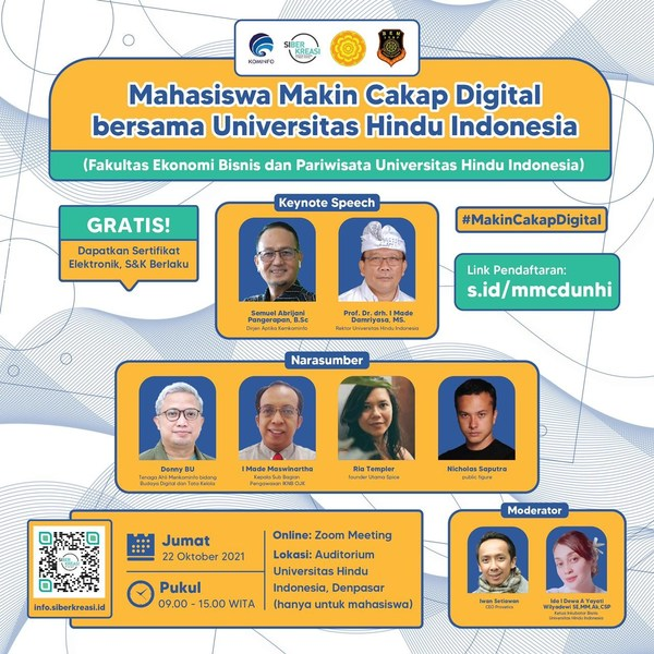 The Indonesia's Ministry of Communication and Informatics Accelerates Initiatives to Close the Digital Literacy Gap Across Bali