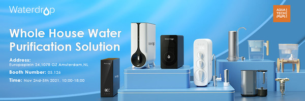 Leading Water Purification Brand in North America - Waterdrop Debuts at The Aquatech Amsterdam Exhibition, and Opens The New Era of Intelligent Water Filter