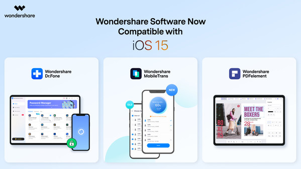 Wondershare and the new iOS 15: Better Together