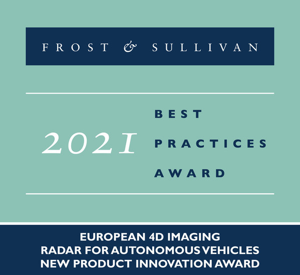 Frost & Sullivan Recognizes Arbe With the 2021 Europe New Product Innovation Award for Advancing Autonomous Vehicle Technology with Its 4D Imaging Radar Chipsets