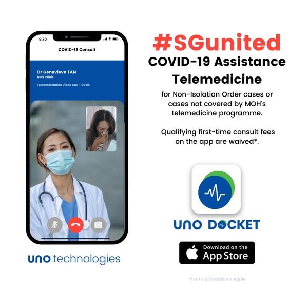 Launch of #SGUnited COVID-19 Assistance Telemedicine Initiative by UNO Tech