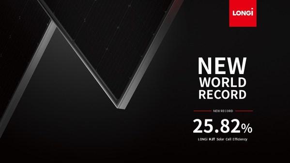 LONGi sets new world record of 25.82% for HJT solar cell efficiency