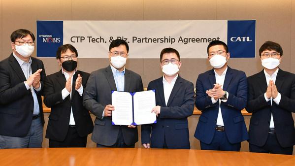 CATL และ Hyundai MOBIS ลงนามข้อตกลงความร่วมมือและอนุญาตให้ใช้สิทธิในเทคโนโลยี CTP